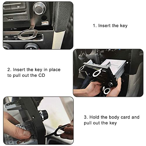 Mercedes and Audi 8 Pieces Radio Removal Tool Key Tool with Easy Grip Handles Compatible with Ford Volkswagen