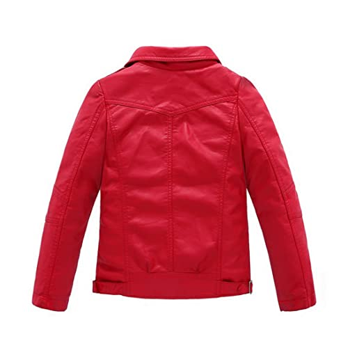 bca116312 Buy LOKTARC Boys Girls Spring Motorcycle Faux Leather Jackets with ...