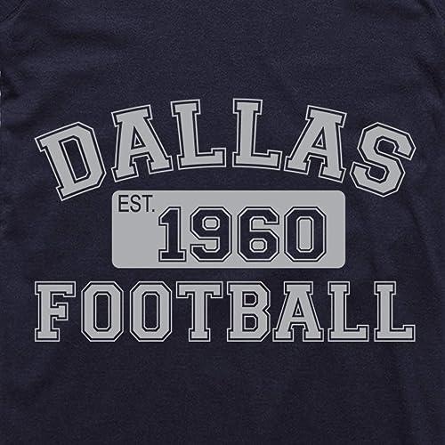Wishful Inking Dallas Football Est.1960 Vintage Style Classic Unisex NuBlend Hooded Sweatshirt