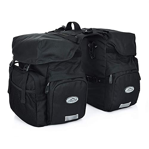 WILDKEN Pannier Bags for Bike Waterproof Bicycle Rear Seat Panniers Pack with Rain Cover /& Reflective Stripe