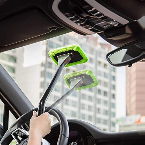 Red LJNH WINDSHIELD WONDER Retractable Car Windscreen Cleaner Tools From Inside Window Glass Cleaning Tools Great for Fog /& Moisture Removal