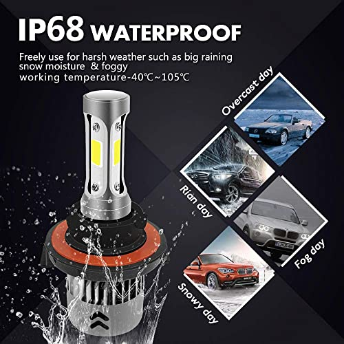 H13 72W 8000LM DC 12V LED Headlight Kit High//Low Beam Bulbs Ice Blue 8000K Power