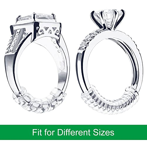 TRYR Set of 15 Pack Ring Size Adjuster with 3 Sizes Clear Ring Sizer Resizer Fit for Loose Rings Please See The Below Picture for The Steps. 2mm//3mm