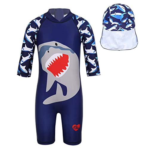 Swimming Costume Agoky Sun Protective Baby Boys Girls Swimsuit Toddlers One Piece Swimwear with Hat Rash Guard UPF 50