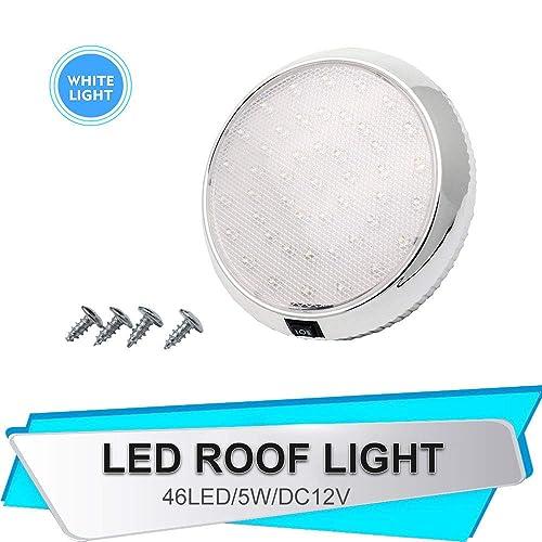 Camper Ceiling Lights Led MASO LEDs Dome Light DC 12V 9W Downlight for Campervan Caravan Motorhome Chrome Warm Boat White