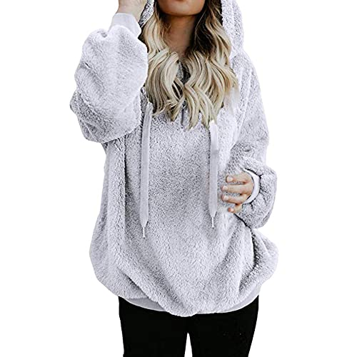 Womens Hoodies Sweatshirts Womens Pullover Hoodie LONGDAY Long Sleeve Oversized Jumper with Pockets