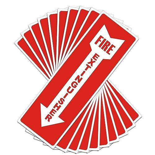 UV Protected /& Waterproof Sleek Indoor /& Outdoor Use Fire Extinguisher Sign Self Adhesive 4 X 12 4 Mil Vinyl Decal