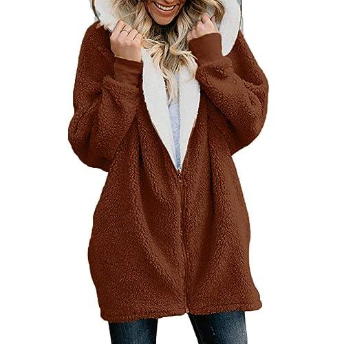 YUNY Womens Lapel Long Sleeve Pocket Open-Front Leopard Outwear Coat Pattern1 S