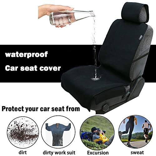 Waterproof Seat Covers Universal Waterproof Car Seat Cover Sweatproof Car Seat Protector with Nonslip Neoprene Perfect for Running Black-1PC Gym Beach and Pets