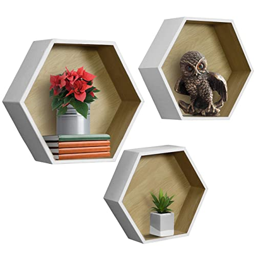Buy Sorbus Floating Shelf Hexagon Set Honeycomb Wall Mounted Shelves Decorative Hanging Display For Collectibles Photos Frames Plants And More Set Of 3 White Online In Kuwait B07kmkm5f6
