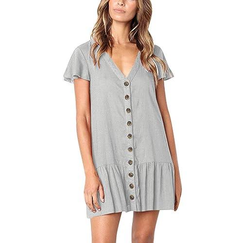 ZSBAYU Womens Summer Casual Beach Dress Solid Sleeveless Irregular Linen Maxi Dress Strap Tank Shift Mini Dress with Pocket