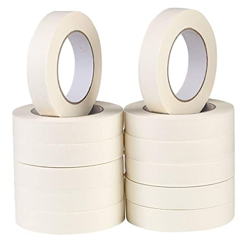 0.98 Inch x 32 Yard Painting Decorating White Masking Tape 18 Rolls Masking Tape for Utility Purposes Arts and Crafts