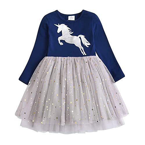 2-8 Years Baby Girls Floral Print Princess Dress Cute Casual Outfits Clothes LuckyBB Kids Girls Dress