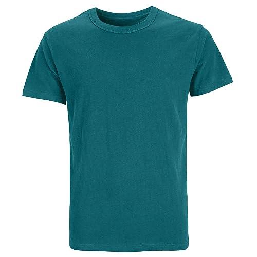 COSAVOROCK Mens Heavyweight Soft Cotton Long Sleeve T-Shirts
