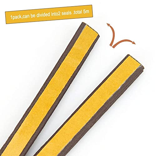 Keeping Fun Indoor Weather Stripping,Self Adhesive Foam Window Seal Strip for Doors and Windows Soundproofing Weatherstrip Gap Blocker,7//20-Inch x 6//25-Inch x 8-Feet,White 2 Seals