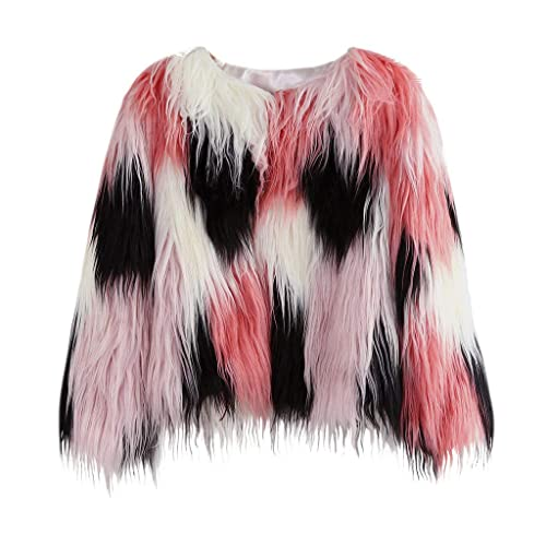 LNGRY Kids Baby Girls Autumn Winter Faux Fur Coat Jacket Warm Outwear Clothes