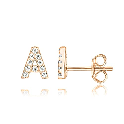 Tarsus Hypoallergenic Infinity Tiny Stud Earrings 14k Gold Plated Cubic Zirconia Love Jewelry Gifts for Women Little Girls