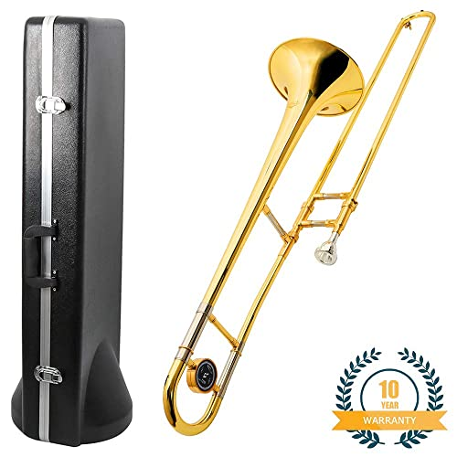 NEW  BRASS Bb SLIDE TROMBONE W//CASE WARRANTY.