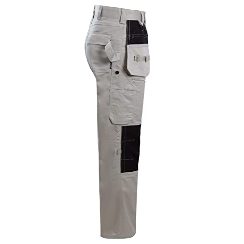 Heavy Duty Quality Work Trousers Cargo Combat Pants Knee Pad Pockets Tradesman