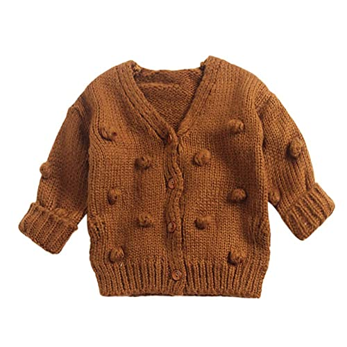 Rosiest Children Kids Baby Girls Solid Hooded Knitted Sweater Cardigan Coat Clothes