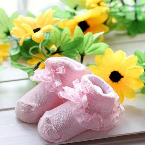 Baby Kids Girls Princess Bowknot Socks Lovely Lace Ruffle Socks by Kolylong