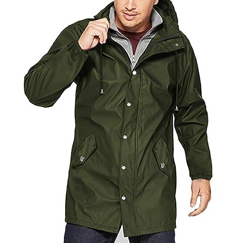 3f14544b0 Buy URRU Men's Waterproof Raincoat Lightweight Hooded Windbreaker ...