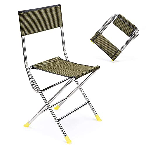 NGOZI Portable Folding Stool Retractable Camping Stool Lightweight Collapsable Stool for Fishing Hiking Traveling Outdoor Activities Holds up 130KG//330lbs