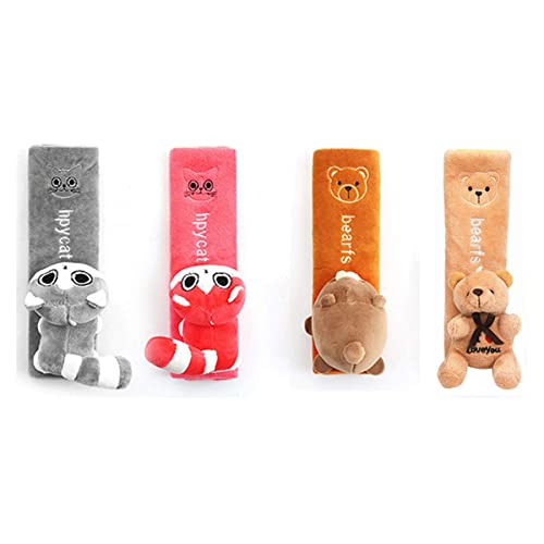 with A Handmade Silver Coin Good Luck Bracelet for Free Gray Hai Hong Car Seat Belt Pads Cover 2 Packs Soft Cute Cat Shoulder Pads for All Car Owners for a More Comfortable Driving