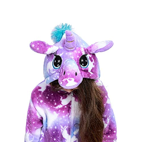 Uniquecos Kids Unicorn Onesie Animal One Piece Pajamas Halloween Costumes