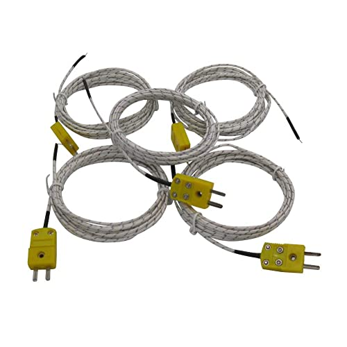 Myriad Choices Yellow Thermocouple Cable Type K Temperature Sensor Probe