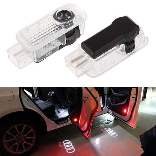 Pack of 4 Ricoy For A1 A3 A4 A5 A6 A8 Q7 TT R8 LED Logo Light Shadow Projector Car Door Courtesy Laser No Circle