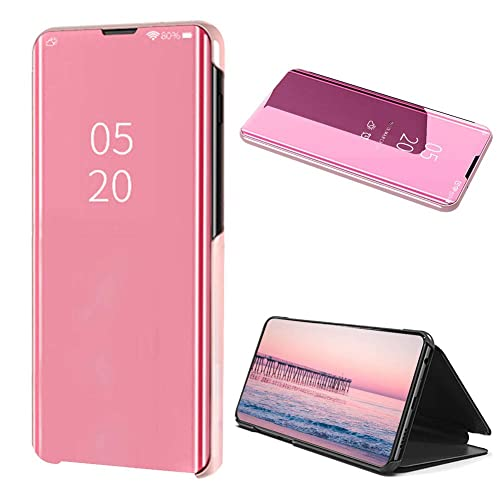 Smart Mirror Case for iPhone 11 Pro max Case,Translucent Flip Screen Protector Case for iPhone 11 Pro max 6.5 Inch ,Moiky Light Purple Ultra Slim Clear View Window Leather Protective Plated Case