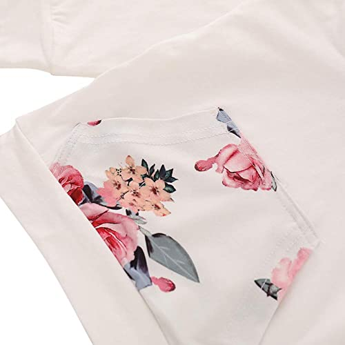 Girls Toddler Cute Outfits Clothing Set Hearts Print Long Sleeve Sweatshirt T-Shirt Tops /& Pantskirt Skirt Leggings Trousers Age 2-8 Years