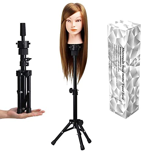 First Generation Alileader Mannikin Head Holder Scalability Wig Clamp Cosmetology Mannequin Head Holding Stand Adjustable Rotator Stand With C Clamp For Hairdresser Mannequin Head C Clamp Stand