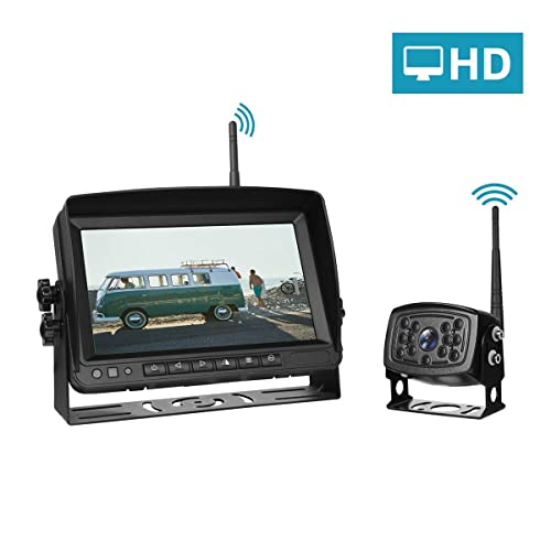 Wireless Backup Camera With Monitor System For Trucks Semi Trailer Box Truck Rv Trailer Camper Rv Rearview Reversing Back Camera No Interface Ip69