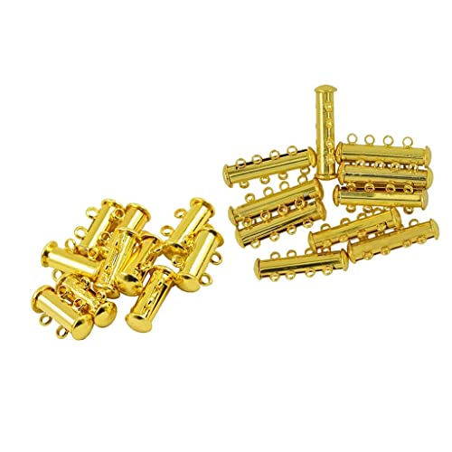 3 Strand,Gold /& Stainless Steel 2 Pcs 316 Stainless Steel Necklace Spacer Layering Clasps Multistrand Clasp for Layered Bracelet Necklace Jewelry Crafts