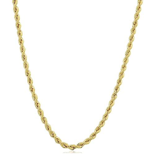 IcedTime 14K Yellow Gold 0.6mm wide Shiny Classic Box Chain with Lobster Clasp