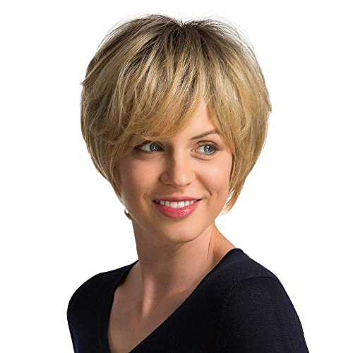 Emmor Short Blonde Human Hair Wigs For Women Blend With Healthy Memory Fiber Pixie Cut Ombre Wig Dark Root Natural Daily Hair Buy Products Online With Ubuy Kuwait In Affordable Prices B07knhxjn5