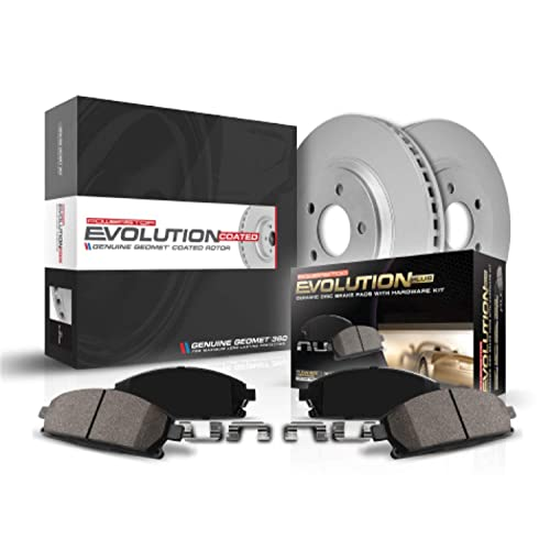 AUTO1 Truck /& Tow Front Brake Kit with 54153 Drilled//Slotted Disc Brake Rotors and D1414Ceramic Brake Pads