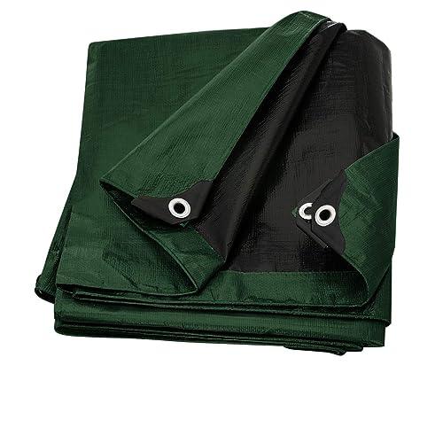 Rv Or Pool Cover Trademark Supplies Silver//Black Heavy Duty Tarp Tarpaulin Canopy Tent Boat 5.4 X 7.3 M