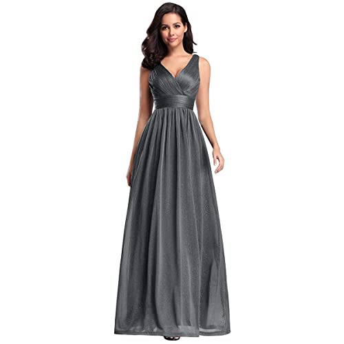 Ever-Pretty Womens Double V Neck Floor Length A Line Empire Waist Long Evening Dresses EZ07764