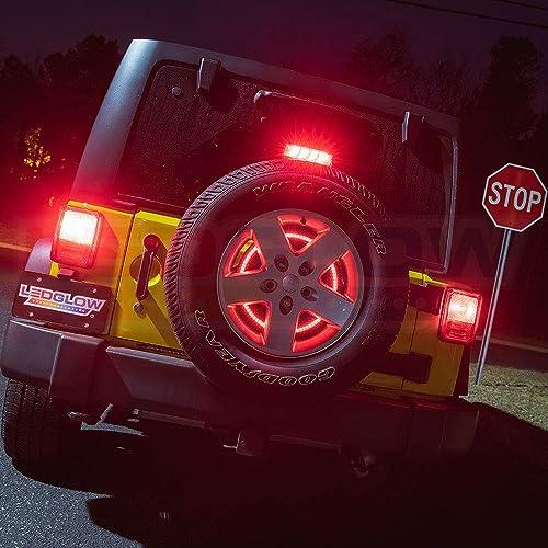 omotor Tire Brake Light 3rd Third for Jeep Wrangler JK TJ LJ YJ CJ 1997-2018