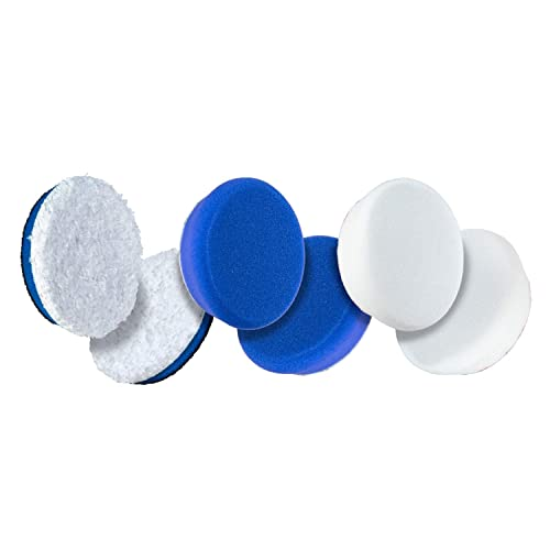 Color Coded to Match with Recommended Polishes or Compounds 2, Blue Compound Pad Expertly Designed to Make Polishing and Paint Correction Easy and Quick 3 Pack Adams Premium Polisher Pads