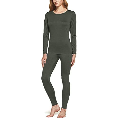 Fleece Lined Warm Base Layer Top /& Bottom for Cold Weather ATHLIO 2 Pack Womens Winter Thermal Underwear Long Johns Set