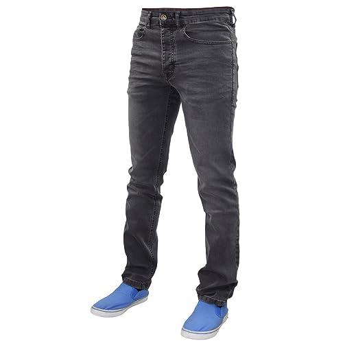 Mens Designer Slim Fit Stretch Jeans Life /& Glory Button Fly Denim Pants