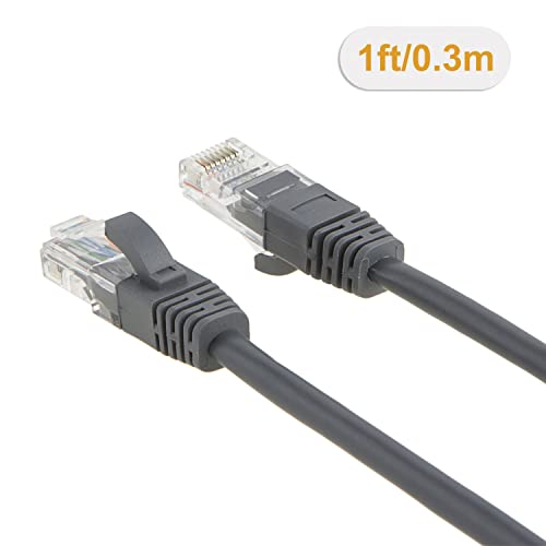 10Ft Cat5e Ethernet RJ45 Lan Wire Network Gray UTP 10 Feet Patch Cable 5 Pack