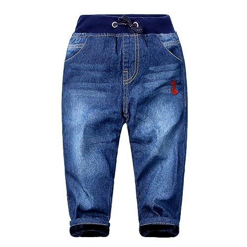 Ameyda Boys Fleece Lined Denim Jeans Pants