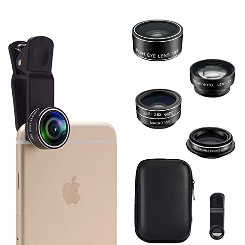 0.63Wide Angle Lens/&15X Macro Lens 22X Telephoto Lens CPL,Shutter Remote+Tripod,for Most Smartphone Phone Camera Lens Kit 10 in 1 for iPhone Samsung Pixel Android 198/° Fisheye Lens,Kaleidoscopes