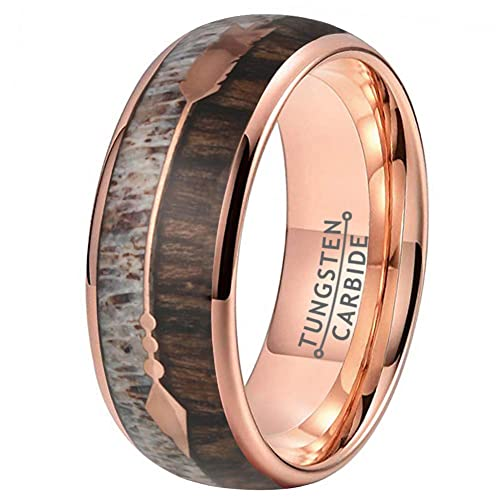 Buy Wow Jewelers 8mm Silver Rose Gold Tungsten Rings For Men Women