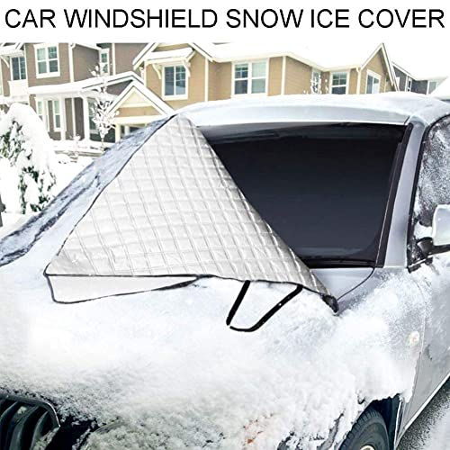 Ice Defense No Scratches Cotton Thicker Windshield Winter Cover Fits for Most Cars Zedoli Car Windshield Snow Cover,Car Sunshades for Windshield with Magnetic Edges Snow